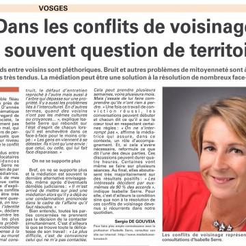 Article Vosges Matin octobre 2013