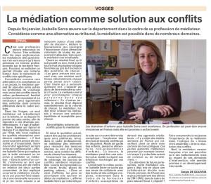 Article Vosges Matin du 06 mai 2013